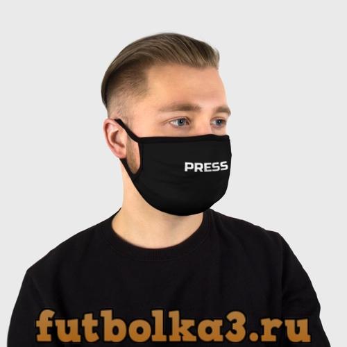 Маска защитная (+5 фильтров) Футболка с надписью PRESS F Маска защитная (+5 фильтров)